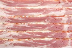Raw bacon Royalty Free Stock Photos