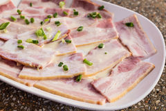 Raw bacon. Stock Images