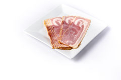 Raw bacon Royalty Free Stock Photography