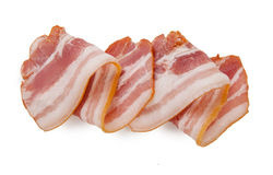 Raw bacon isolated on white background Stock Photography