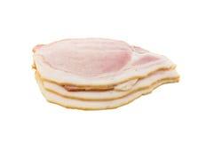 Raw bacon isolated on white background Royalty Free Stock Image