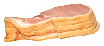 Raw Bacon Rashers Stock Photography
