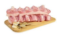Raw bacon with ribs Royalty Free Stock Images