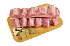 Raw bacon with ribs Royalty Free Stock Photo