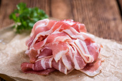 Raw Bacon slices Royalty Free Stock Photography