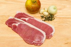 Raw bacon steaks Stock Image
