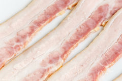 Raw Bacon strips slices Stock Images
