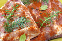 Raw bacon Stock Photography