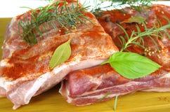 Raw bacon Stock Photo