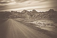 Raw Badlands Landscape Stock Image
