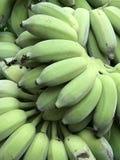 Raw banana. Green banana background Stock Images