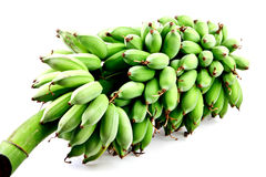 Raw banana in isolated on white Stock Image