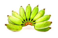 Raw banana in isolated on white Royalty Free Stock Images