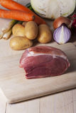Raw bavarian meat Stock Photos