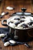Raw beans Stock Photos