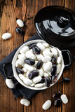 Raw beans Stock Image