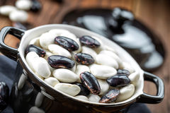 Raw beans Stock Photography