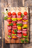 Raw beef,barbecue Royalty Free Stock Images