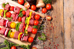 Raw beef,barbecue Royalty Free Stock Image