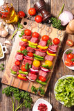 Raw beef,barbecue stock photo