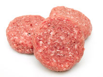 Raw beef burgers Stock Images