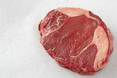 Raw beef chuck. On white background Royalty Free Stock Image