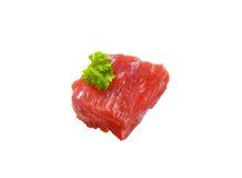 Raw beef chunk Stock Photo