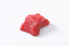 Raw beef chunk Royalty Free Stock Photo