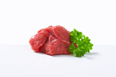 Raw beef chunk Royalty Free Stock Photography