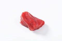Raw beef chunk Stock Image