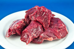 Raw Beef Chunks Stock Image