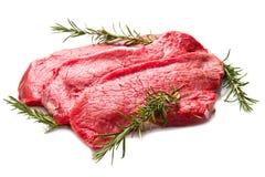 Raw beef on cutting board Stock Image