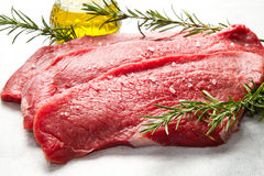 Raw beef on cutting board Royalty Free Stock Image