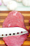 Raw beef cutting Stock Image