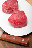 Raw beef filet mignon Royalty Free Stock Photography
