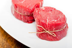 Raw beef filet mignon Stock Images