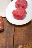 Raw beef filet mignon Stock Photo