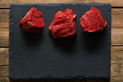 Raw beef filet mignon Royalty Free Stock Images