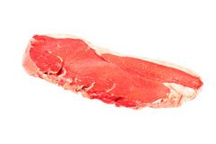 Raw beef fillet steak. Isolated on white background Stock Photo