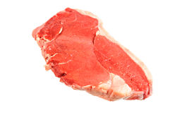 Raw beef fillet steak. Isolated on white background Stock Photography