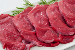 Raw beef fillets Royalty Free Stock Images