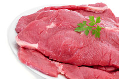 Raw beef fillets Stock Images