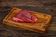 Raw beef Flank steak. Black Angus royalty free stock images
