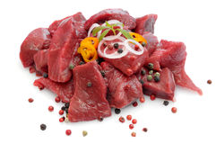 Raw beef goulash Stock Images