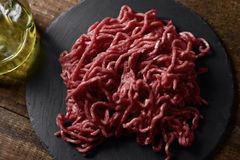 Raw beef ground meat Stock Photo