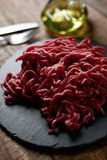 Raw beef ground meat Royalty Free Stock Images