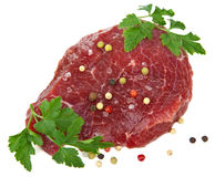 Raw beef isolated Stock Photo