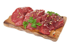 Raw beef isolated Stock Photos