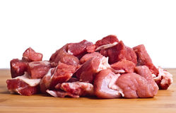 Raw beef isolated. On white background Royalty Free Stock Image