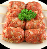 Raw Beef Kofta 5 Royalty Free Stock Photography